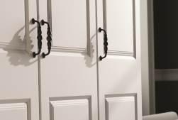 Bedroom wardrobe door handles