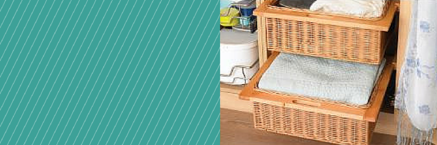 Bedroom storage baskets