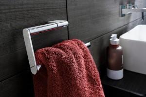 Marsala coloured bathroom towel