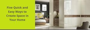 Bedroom - creating space