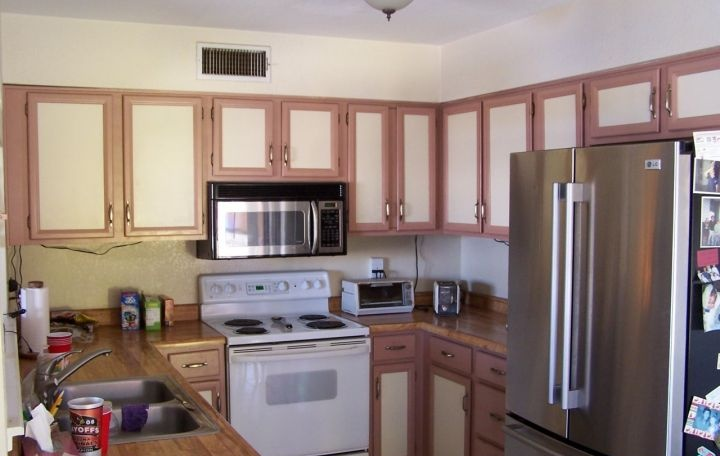 Old kitchen with frame doors