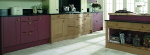 Two tone kitchen units