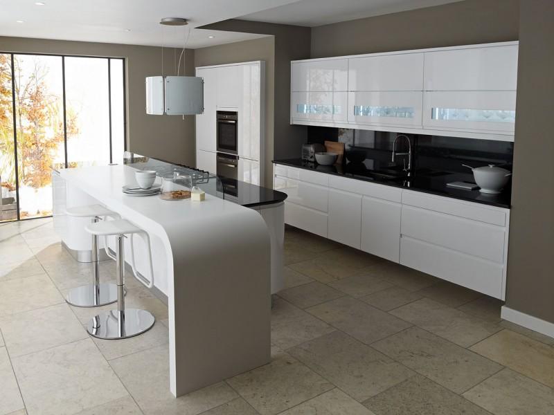 Kitchen with corian worktop