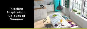 Kitchen in summer colours