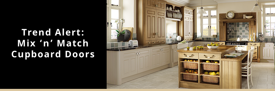 Mix and match kitchen cabinets