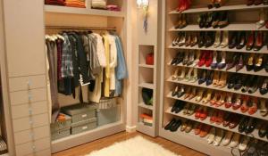 Blair's walk-in wardrobe