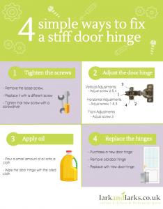 4 Ways to Fix a Stiff Door Hinge