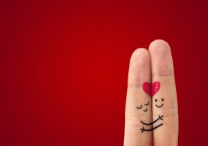 Valentine's Day heart fingers image