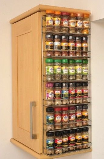 Kitchen storage hacks cupboard spice rack