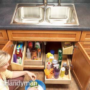 Kitchen storage ideas under sink storage
