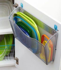 Kitchen Storage Hacks Tupperware lids