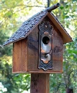 Door Handle Recycle Bird House