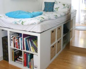 bed and storage combo