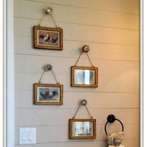 Door knob picture frame hangers