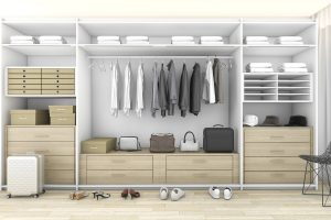 Open-fronted wardrobe unit