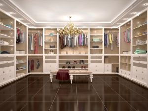 walk in wardrobe spare room