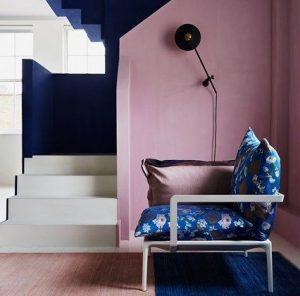 Rose Gold Colour Palatte living room