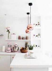 Chrome and White kitchen