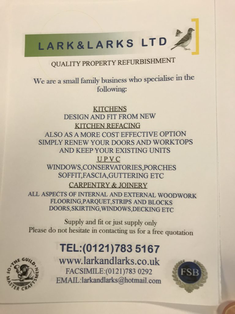 Lark and Larks flyer