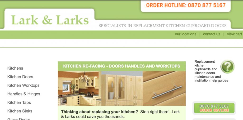 lark and Larks website in February 2017
