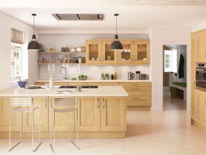 Natural wood kitchen